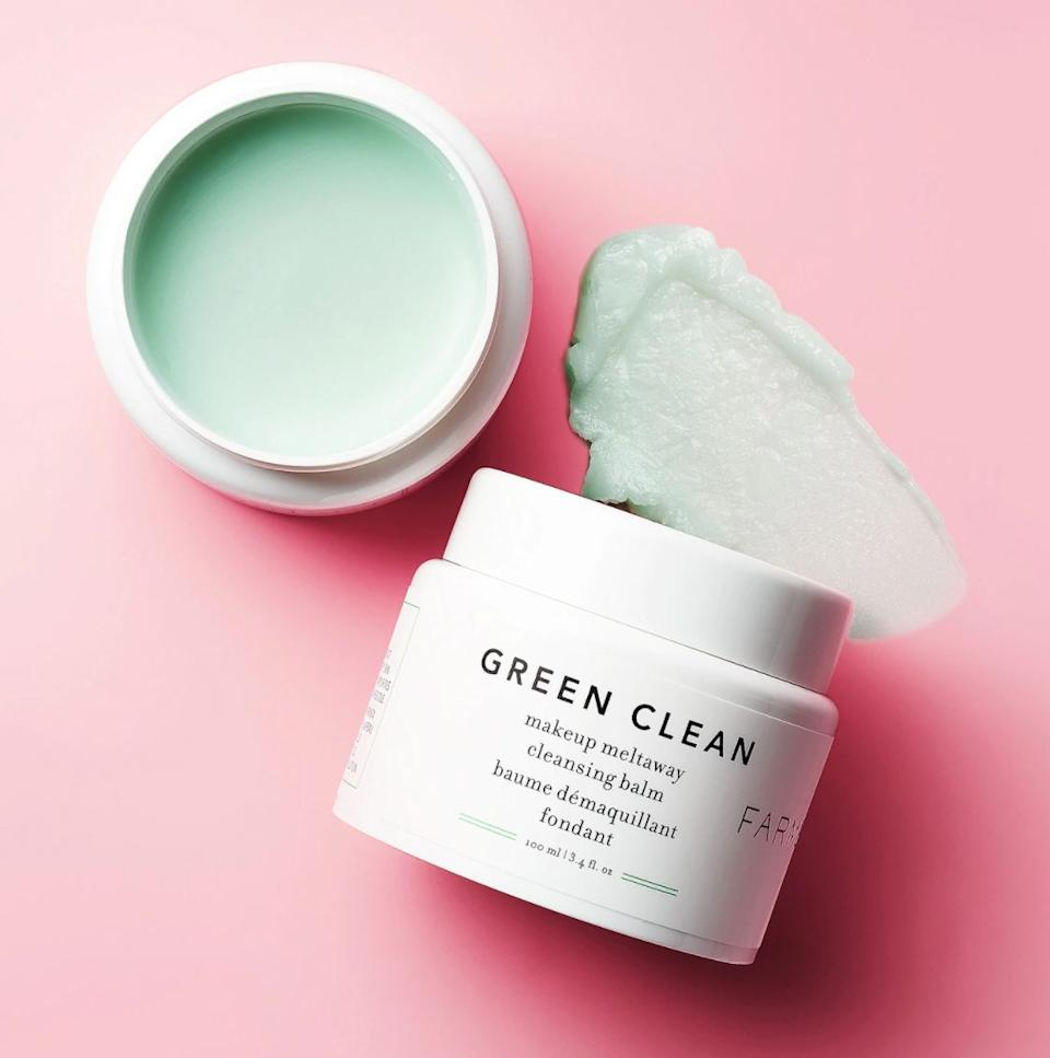 """Melt away dirt, grime and stubborn makeup with this ginger root- and sunflower oil-based formula.<br /><br /><strong>Promising review:</strong>""""This product is truly a pleasure to use! I enjoy it as the first step in my evening double cleanse, <strong>and it really does an amazing job just melting away any makeup or sunscreen. It's gentle enough to use around the eye area, and it feels so nice to massage into my face.</strong> It cleans off easily in water, making it a great first step in the cleansing process. Also, this product smells GREAT — so fresh and clean. I normally don't prefer fragrance in my skincare products, but since this is a wash-off product, it's not a deal-breaker. I highly recommend it, and I will be re-purchasing!"""" —<a href=""""https://go.skimresources.com?id=38395X987171&xs=1&xcust=HPEffectiveSkincareProducts-60930903e4b0c15313fbe977&url=https%3A%2F%2Fwww.sephora.com%2Fproduct%2Fgreen-clean-makeup-meltaway-cleansing-balm-P417238"""" target=""""_blank"""" rel=""""nofollow noopener noreferrer"""" data-skimlinks-tracking=""""5582326"""" data-vars-affiliate=""""Rakuten"""" data-vars-campaign=""""SkincareProductsYoullWishYouBoughtSoonerSuknanan06022020-5582326-"""" data-vars-href=""""https://click.linksynergy.com/deeplink?id=yPKHhJU2qBg&mid=2417&murl=https%3A%2F%2Fwww.sephora.com%2Fproduct%2Fgreen-clean-makeup-meltaway-cleansing-balm-P417238&u1=SkincareProductsYoullWishYouBoughtSoonerSuknanan06022020-5582326-"""" data-vars-keywords=""""cleaning"""" data-vars-link-id=""""0"""" data-vars-price="""""""" data-vars-redirecturl=""""https://www.sephora.com/product/green-clean-makeup-meltaway-cleansing-balm-P417238"""" data-vars-retailers=""""Sephora"""" data-ml-dynamic=""""true"""" data-ml-dynamic-type=""""sl"""" data-orig-url=""""https://click.linksynergy.com/deeplink?id=yPKHhJU2qBg&mid=2417&murl=https%3A%2F%2Fwww.sephora.com%2Fproduct%2Fgreen-clean-makeup-meltaway-cleansing-balm-P417238&u1=SkincareProductsYoullWishYouBoughtSoonerSuknanan06022020-5582326-"""" data-ml-id=""""1"""">TheWittyKnit<br /><br /></a><strong>Get it from Sephora for <a href=""""h"""