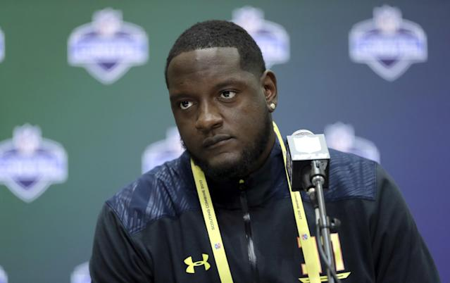 Alabama OT Cam Robinson has what it takes to be great, but consistency is a concern. (AP)