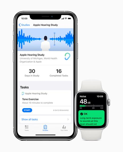 Apple users can choose to participate in the Hearing Study through the Research app.