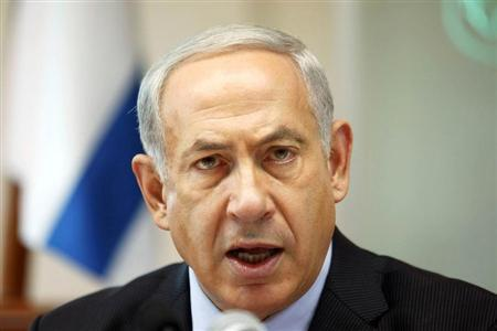 Israeli Prime Minister Netanyahu speaks during the weekly cabinet meeting in Jerusalem