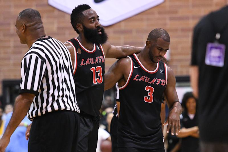 590c46b57b4a Chris Paul and James Harden show glimpses of promise in Drew League