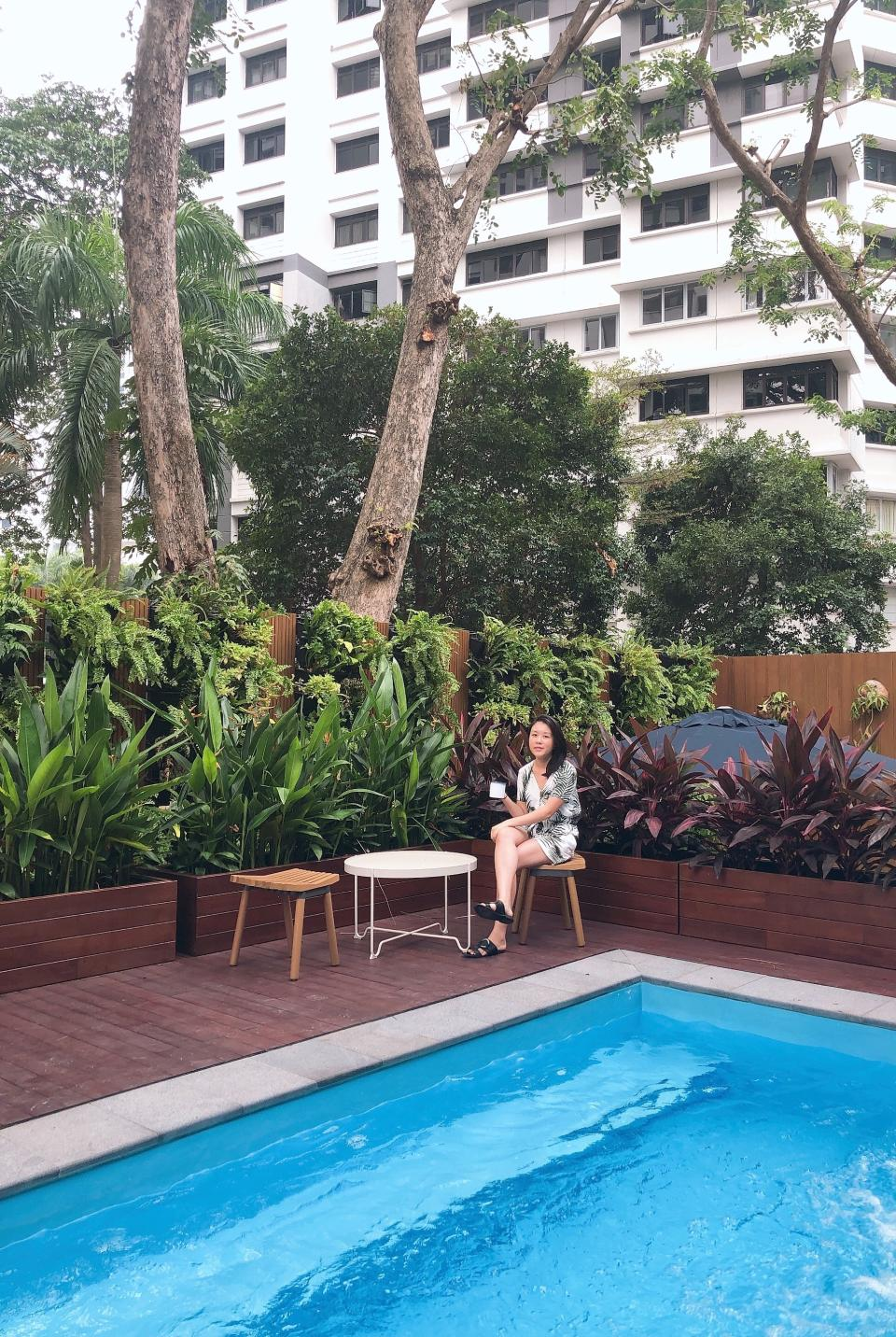 Jump into the plunge pool to refresh yourself in the summer heat. (PHOTO: Sheila Chiang/Yahoo Lifestyle Singapore)