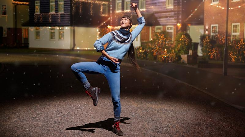 M&S's festive ad this year features dancers 'jumping around' in woolly jumpers. Photo: Marks & Spencer