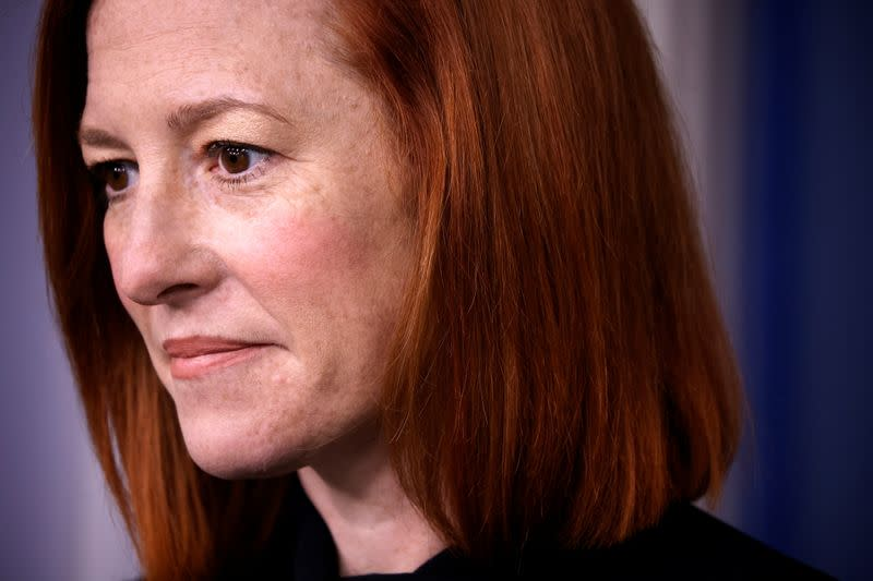 White House Press Secretary Psaki holds a daily press briefing at the White House in Washington