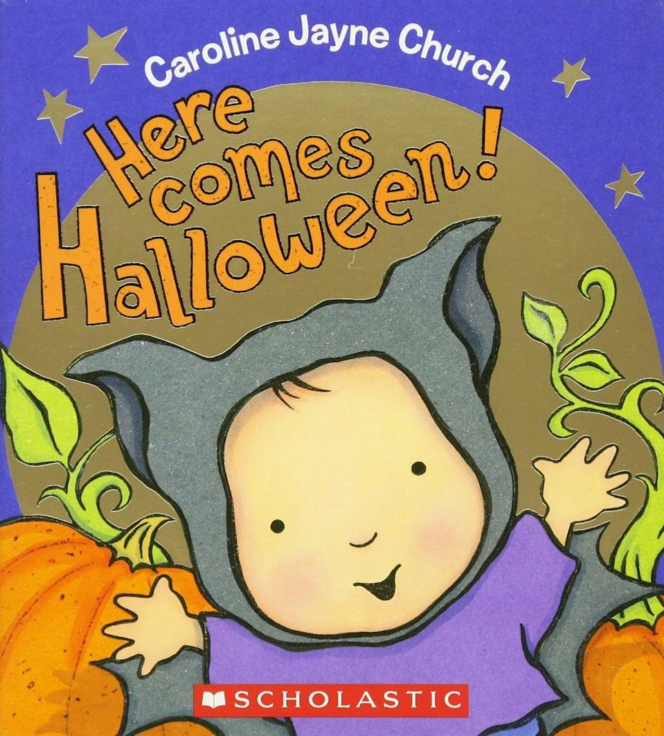 <p>The touch-and-feel approach to <span><strong>Here Comes Halloween</strong></span> ($8) makes it the perfect book for babies. </p>