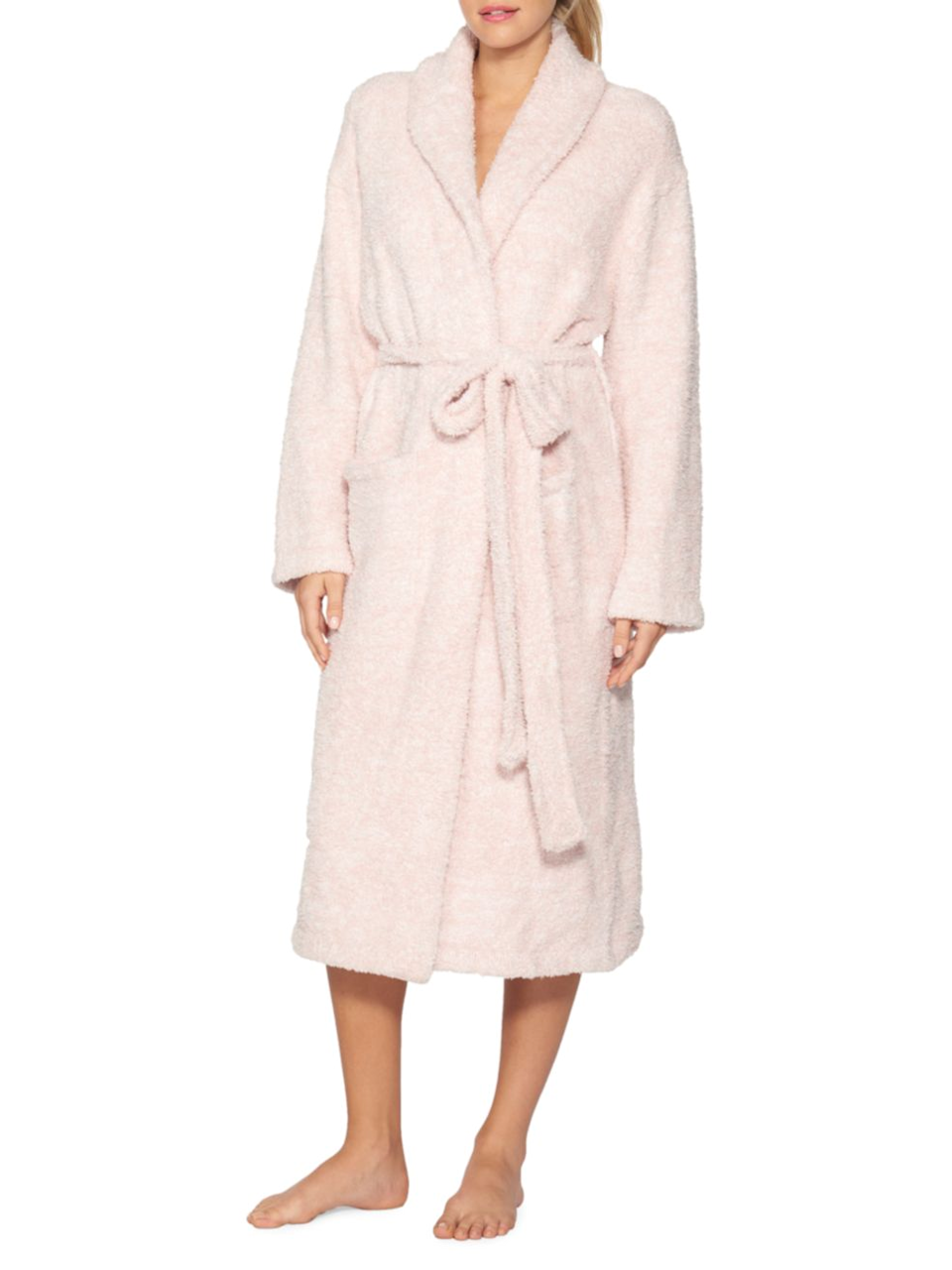 """<h3><a href=""""https://www.saksfifthavenue.com/barefoot-dreams-the-cozychic-heathered-robe/product/0400012721365"""" rel=""""nofollow noopener"""" target=""""_blank"""" data-ylk=""""slk:Barefoot Dreams CozyChic Robe"""" class=""""link rapid-noclick-resp"""">Barefoot Dreams CozyChic Robe</a></h3><br>If the brand name doesn't say it all — this machine-washable robe is crafted for lounging longevity from a super soft and cushy microfiber that won't shrink or pill.<br><br>One reviewer calls it the, """"Most comfortable robe ever,"""" declaring: """"I'm so glad I bought this robe. It's incredibly soft and cozy. It is thick fabric without being heavy or hot. Totally a year-round robe.""""<br><br><strong>BAREFOOT DREAMS®</strong> The CozyChic Robe, $, available at <a href=""""https://go.skimresources.com/?id=30283X879131&url=https%3A%2F%2Fwww.saksfifthavenue.com%2Fbarefoot-dreams-the-cozychic-heathered-robe%2Fproduct%2F0400012721365"""" rel=""""nofollow noopener"""" target=""""_blank"""" data-ylk=""""slk:Saks Fifth Avenue"""" class=""""link rapid-noclick-resp"""">Saks Fifth Avenue</a>"""