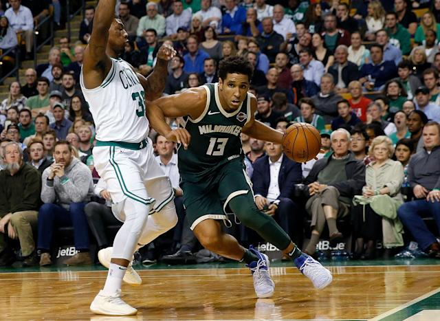 Neither Malcolm Brogdon nor Marcus Smart is expected to be available to start the series. (AP)
