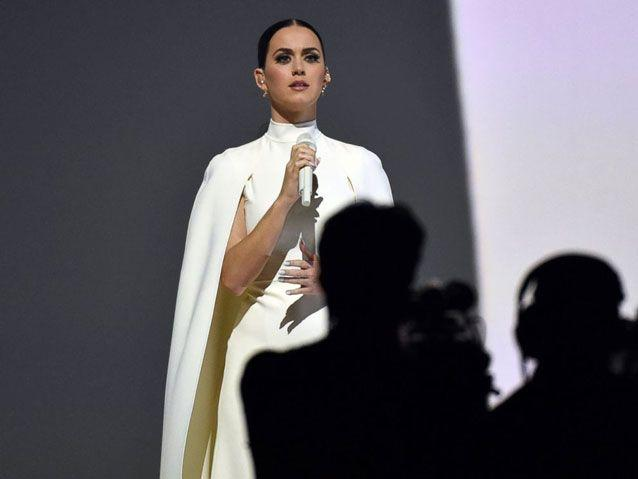 Axtell worked with Katy Perry before appearing at the 2015 Grammy Awards. Source: AP