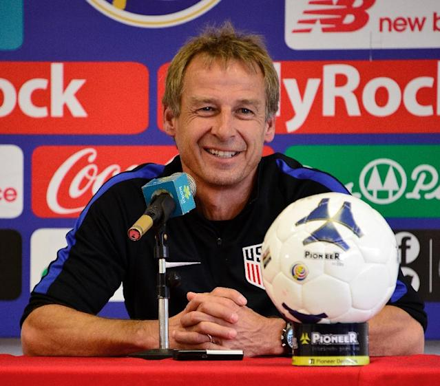 Former US national football team coach Jurgen Klinsmann is said to be interested in leading Australia at the World Cup (AFP Photo/EZEQUIEL BECERRA)