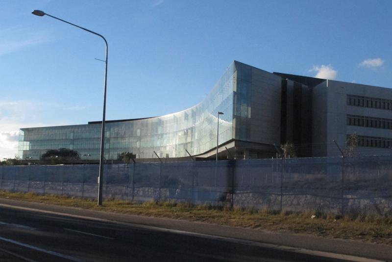 The Australian Security Intelligence Organization's new headquarters is nearing completion in Canberra, Australia, Tuesday, May 28, 2013. Australian officials have refused to confirm or deny whether Chinese hackers had stolen the blueprints of the new spy agency building as a news report claims. (AP Photo/Rod McGuirk)