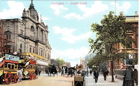 An old postcard showing the Chelsea Palace theatre
