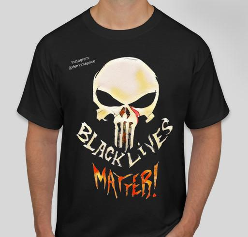 """One of the Punisher shirts available via Conway's """"Skulls for Justice"""" campaign. (Demonte Price/Custom Ink)"""