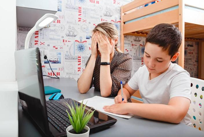 Between work and remote learning brought on by the pandemic, some parents struggle with competing demands.