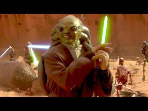 """<p>The green guy who smiles in Attack of the Clones also kicks enormous ass in the Clone Wars anime series. He deserved better.</p><p><a href=""""https://www.youtube.com/watch?v=ub9107xWjEk"""" rel=""""nofollow noopener"""" target=""""_blank"""" data-ylk=""""slk:See the original post on Youtube"""" class=""""link rapid-noclick-resp"""">See the original post on Youtube</a></p>"""
