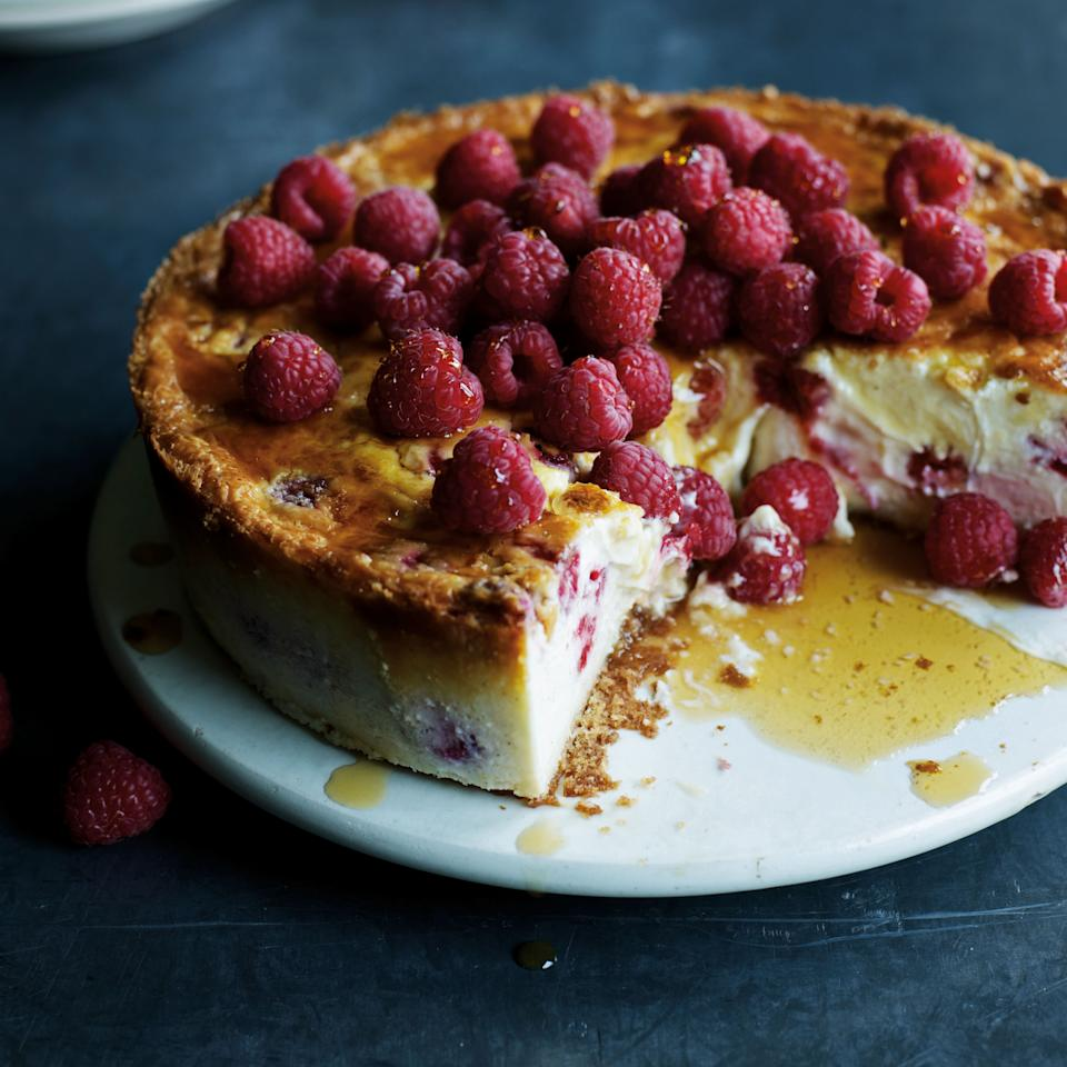 Vanilla and Raspberry Cheesecake