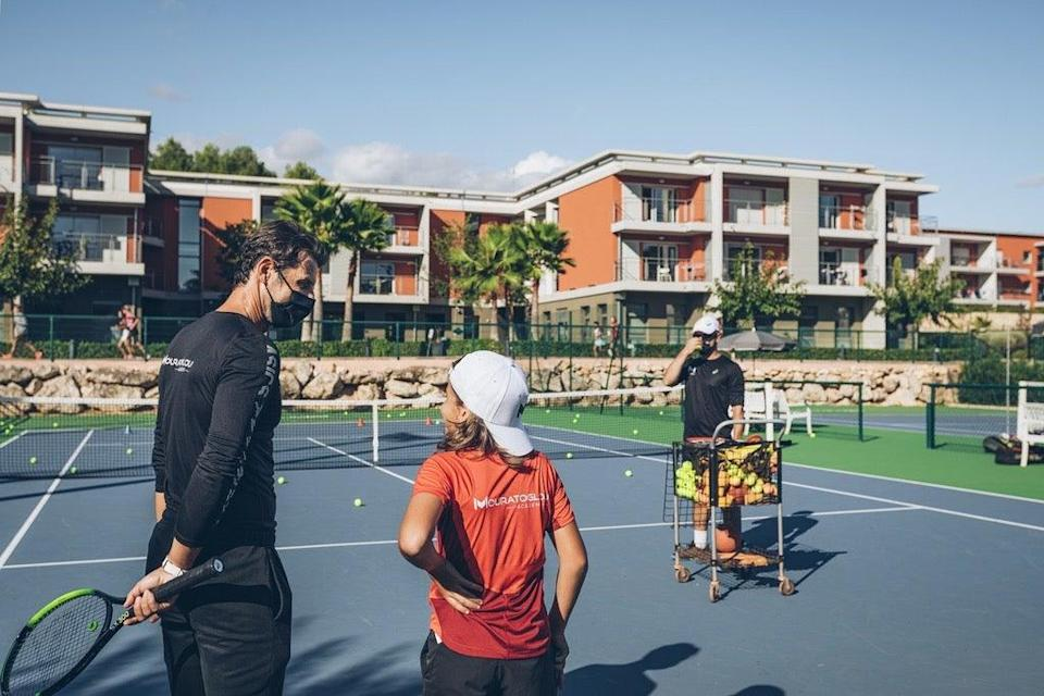 Mouratoglou coaching in the South of France (Press Image Academy)