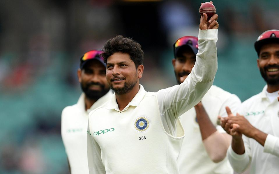 The omission of Kuldeep Yadav has called India's selection into question as they struggled to take wickets on the opening two days in Chennai - Stringer/Reuters