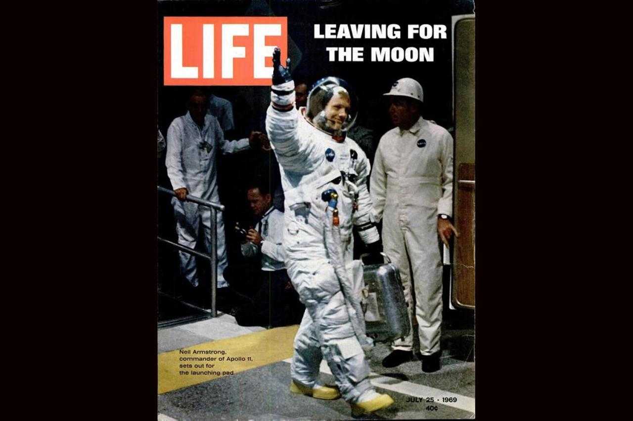 Neil Armstrong on the cover of LIFE magazine, July 25, 1969.