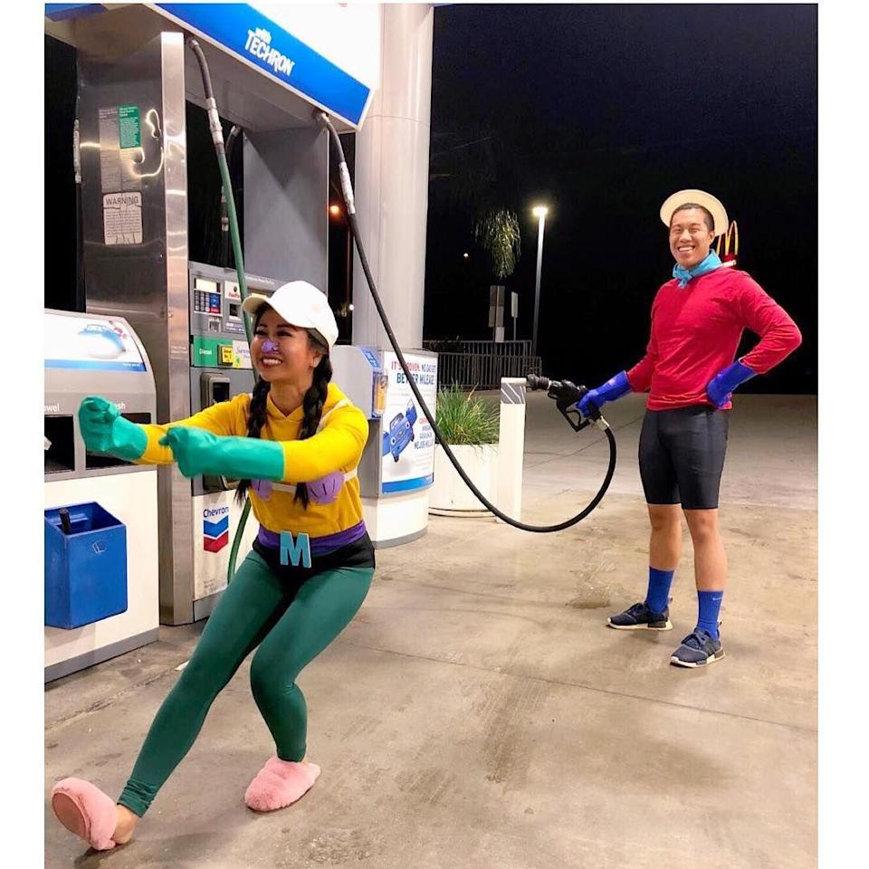 """<p>Without gas, who knows where Mermaid Man and Barnacle Boy would end up in the invisible boatmobile. </p><p><a class=""""link rapid-noclick-resp"""" href=""""https://www.amazon.com/Spirit-Halloween-Spongebob-Squarepants-Barnacle/dp/B08CLWFR1X/?tag=syn-yahoo-20&ascsubtag=%5Bartid%7C10072.g.27868801%5Bsrc%7Cyahoo-us"""" rel=""""nofollow noopener"""" target=""""_blank"""" data-ylk=""""slk:SHOP BARNACLE BOY COSTUME"""">SHOP BARNACLE BOY COSTUME</a></p>"""