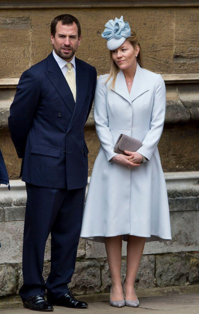 <p>Princess Anne's son and his wife attend the royal family's Easter church service.</p>