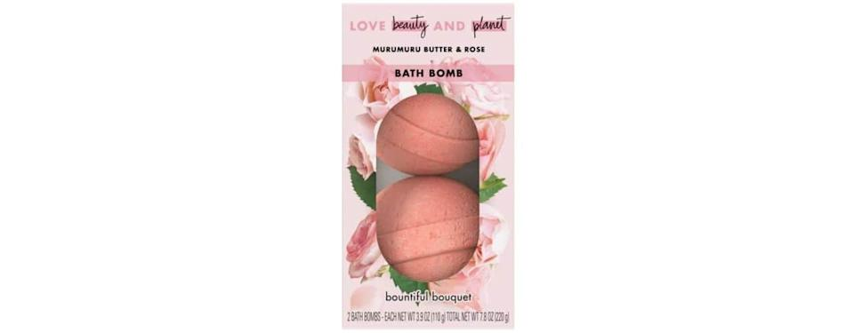 Love Beauty and Planet Murumuru Butter and Rose Bath Bomb