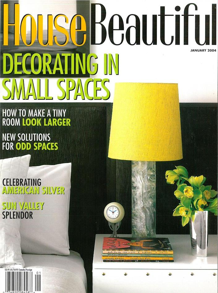 <p>Kicking off 2004 with an issue that played with color, not just in its interior designs, but also in the logo. How do you feel about the multi-color <em>House Beautiful</em> title?</p>