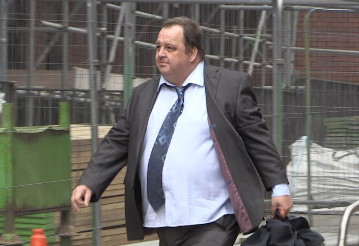Alex Kear arriving at Leeds Crown Court to be sentenced. (PA)