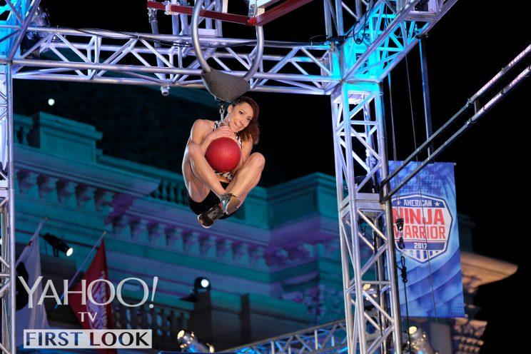 Zhanique Lovett in American Ninja Warrior (Photo: Tyler Golden/NBC)
