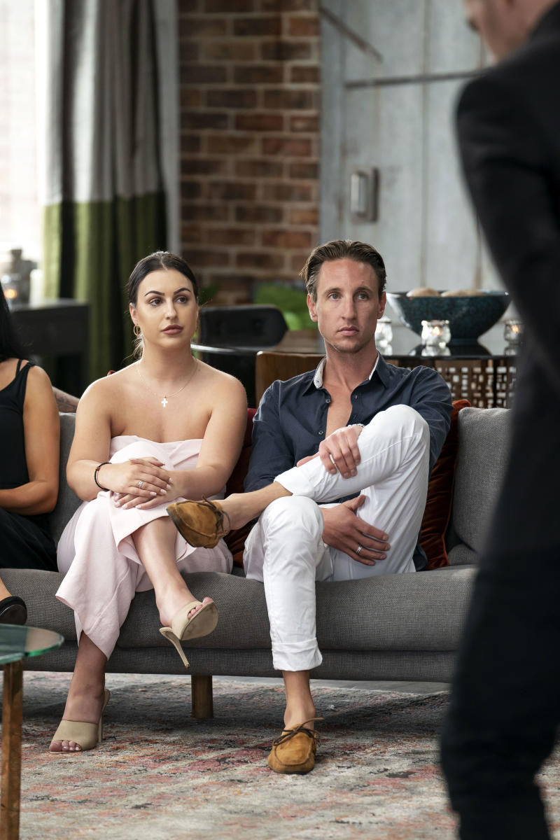 Ivan and Aleks on the couch in MAFS