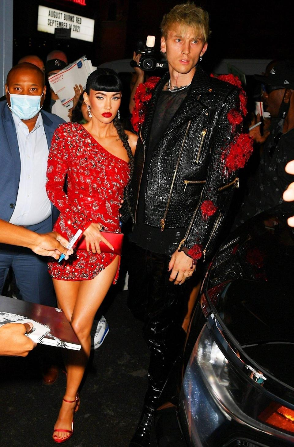 Megan Fox and Machine Gun Kelly make an appearance at Justin Bieber's after-party