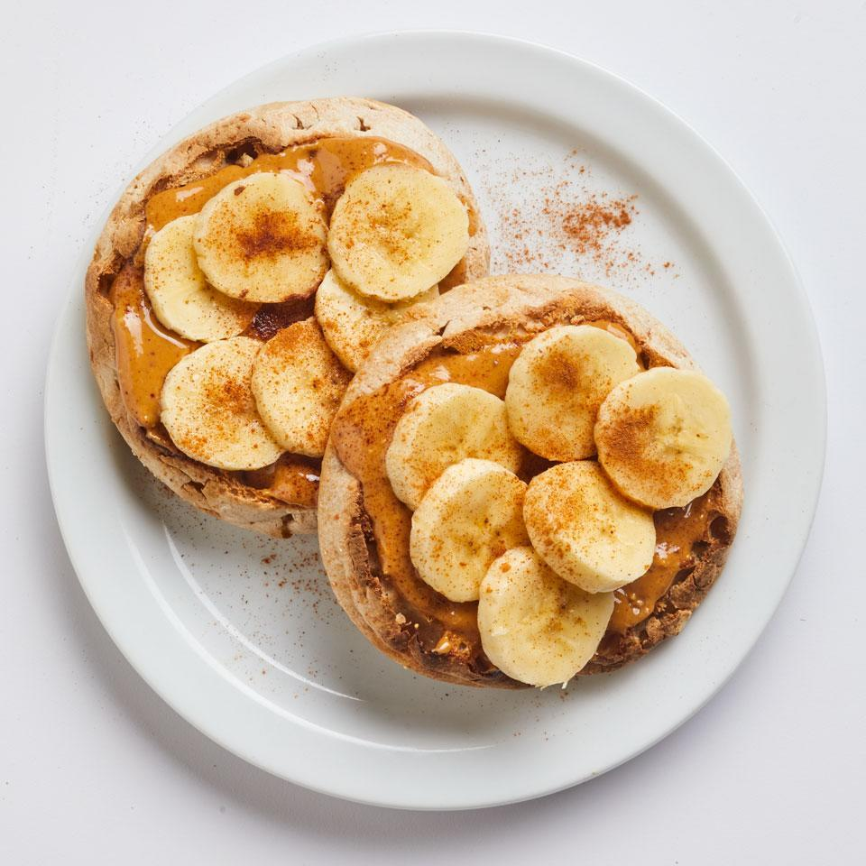 <p>Peanut butter and banana are the original power couple. Top a simple toasted English muffin with the duo, then sprinkle everything with a hit of ground cinnamon for a healthy breakfast of champions.</p>