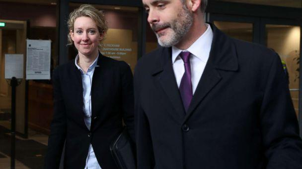 PHOTO: Former Theranos founder and CEO Elizabeth Holmes (L) leaves the Robert F. Peckham U.S. Federal Court, Jan. 14, 2019, in San Jose, Calif. (Justin Sullivan/Getty Images)