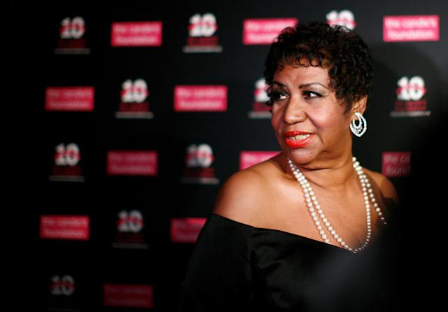 <p>Aretha Franklin at a charity event in New York in 2011. (REUTERS/Eric Thayer) </p>