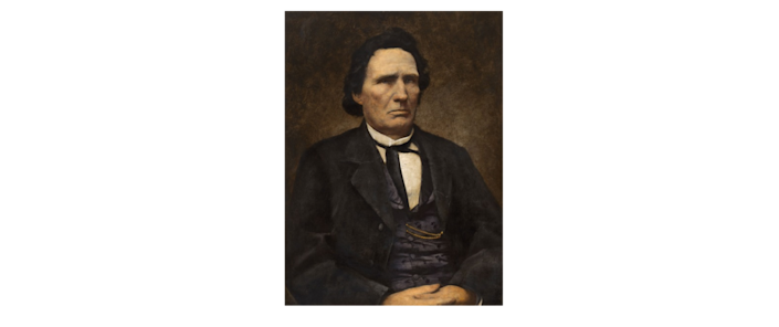 Painting of Representative Thaddeus Stevens of Pennsylvania. He served as a House Republican between the years of 1859 and 1868.