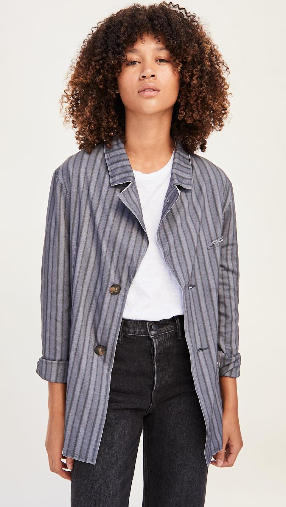 <p>This <span>Telfar T-Shirt Blazer</span> ($760) is the chicest layering piece.</p>