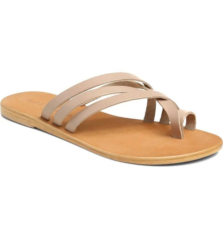 <p>The strappy look of these <span>Band of Gypsies Rose Slide Sandals</span> ($69) is cool.</p>