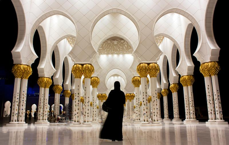 "With its sleek white architecture and tranquil reflecting pool, Abu Dhabi's grand mosque stuns day and night. It is the largest and <a href=""https://www.abudhabi.ae/portal/public/en/citizens/culture-and-recreation/cultural-and-historical-sites/sheikh-zayed-grand-mosque;jsessionid=ci0ItlOYB7_xEUuN423VGx-etbekOh45jqhTY9j8mxIaZw5Gk_kA!-35997517!113523!1507679687576"" target=""_blank"">most important mosque</a> in the United Arab Emirates, drawing over 41,000 people for Eid prayers."