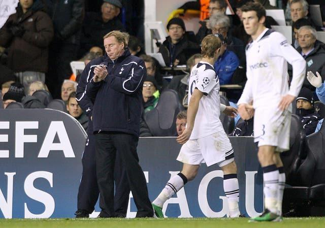 Harry Redknapp, left, managed Gareth Bale, right, in the forward's first spell at Tottenham (Nick Potts/PA)