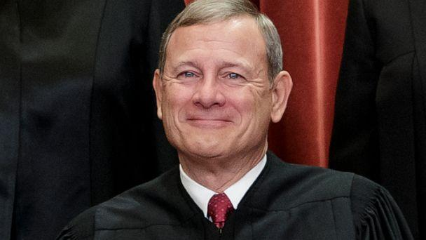 PHOTO: This Nov. 30, 2018, file photo shows Chief Justice of the United States, John Roberts, as he sits with fellow Supreme Court justices for a group portrait at the Supreme Court Building in Washington. (J. Scott Applewhite/AP)