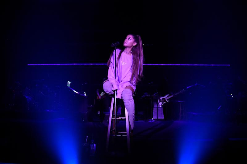 Ariana Grande's Ponytail Has a Mind of Its Own