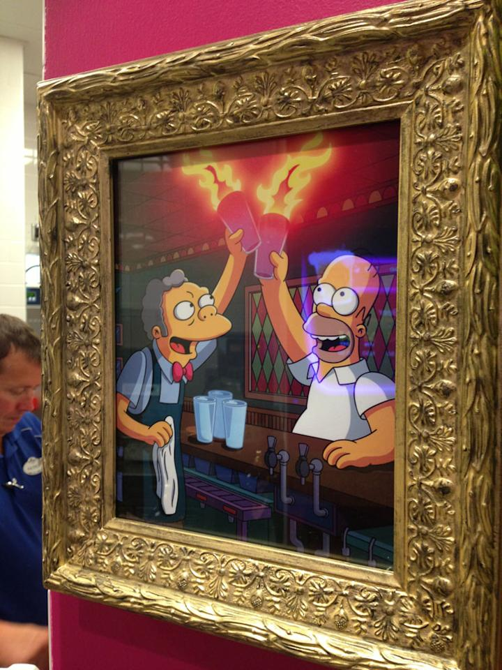 "Now <i>this</i> is art: the ""Flaming Moe-na Lisa.""<br /><br />See more photos from <a href=""http://attractionsmagazine.com/"" target=""_blank"">Orlando Attractions Magazine</a>"