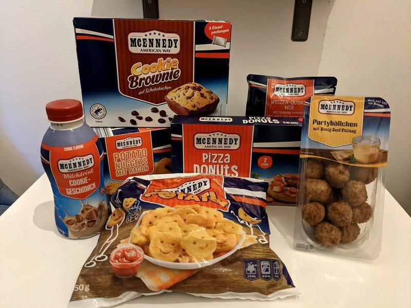 an assortment of McEnnedy America Week products