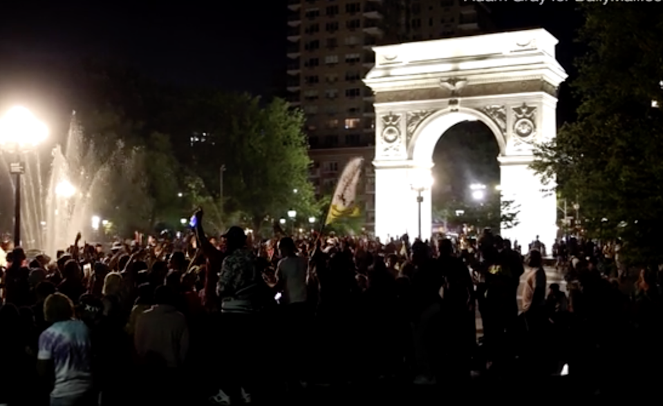 Party in Washington Square Park led to injuries and complaints from neighbours (Adam Grey)