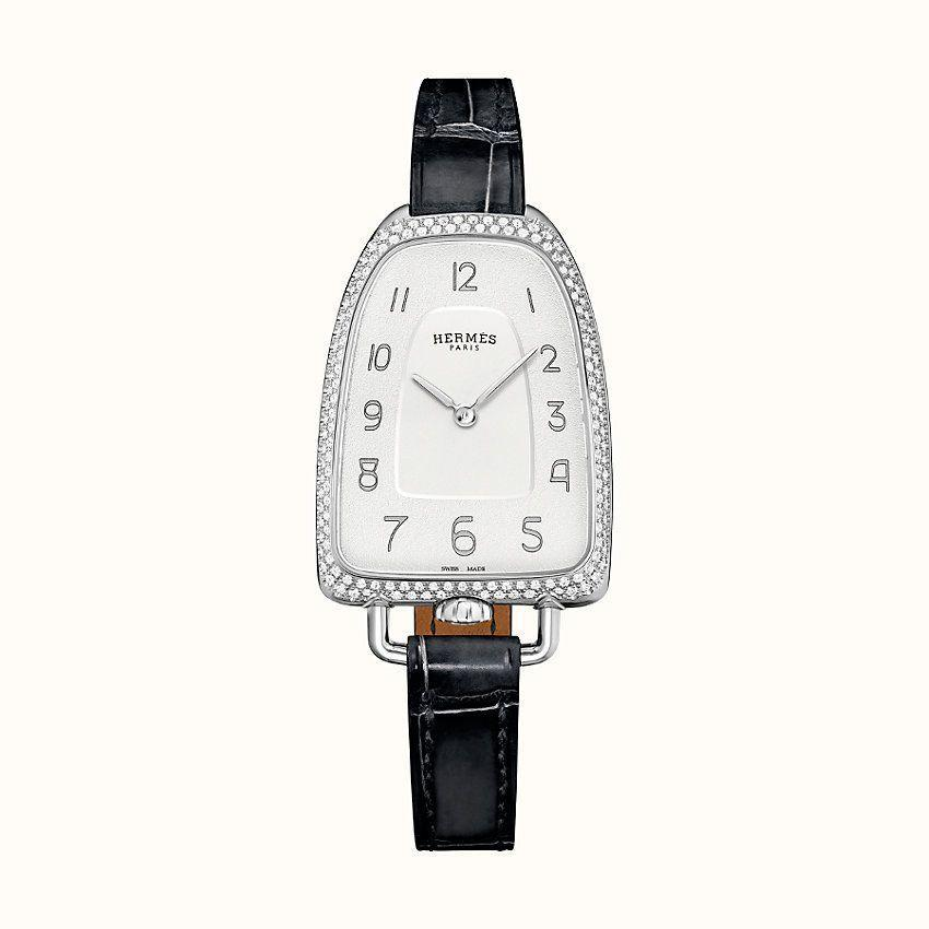 "<p><strong>HERMÈS</strong></p><p>hermes.com</p><p><strong>$9250.00</strong></p><p><a href=""https://www.hermes.com/us/en/product/galop-d-hermes-watch-40.8-x-26mm-W047886WW00/"" rel=""nofollow noopener"" target=""_blank"" data-ylk=""slk:Shop Now"" class=""link rapid-noclick-resp"">Shop Now</a></p><p>The next gen Hermès watch, Galop d'Hermes watch, 40.8 x 26 mm, for the classic girl who likes that new, new, too.</p>"