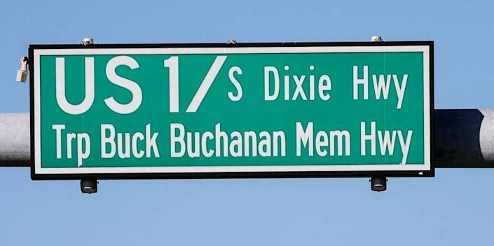 A vote is scheduled for the renaming of the Dixie Highway/ US 1 to Harriet Tubman Highway. Traffic flows through the intersection of SW 224 Street and Dixie Hwy on Monday, Feb 17, 2020.