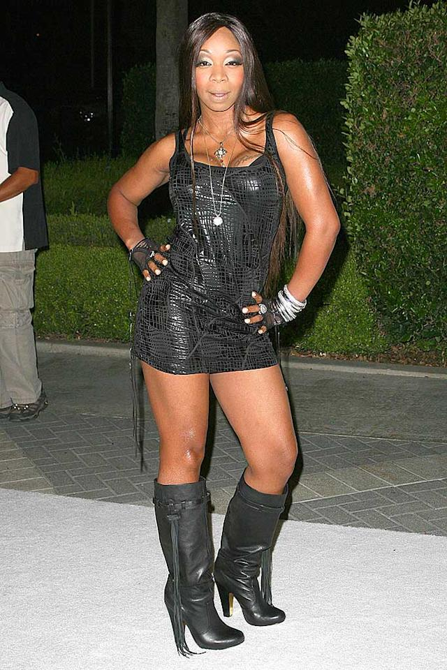 "Tiffany Pollard (""I Love New York"") needs to enroll in Mo'Nique's ""Charm School"" in order to learn how to dress like a lady. Entertainment Press/<a href=""http://www.splashnewsonline.com"" target=""new"">Splash News</a> - September 22, 2008"