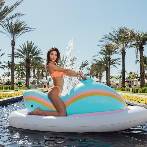 <p>If you can't drive a jet ski in real life, the <span>Funboy Inflatable Funski Pool Float</span> ($79) is the next best thing.</p>
