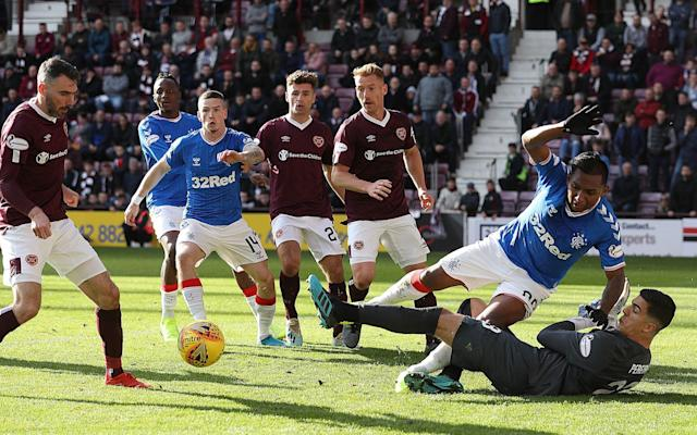 League contenders Rangers could not overcome Hearts at Tynecastle - Getty Images Europe