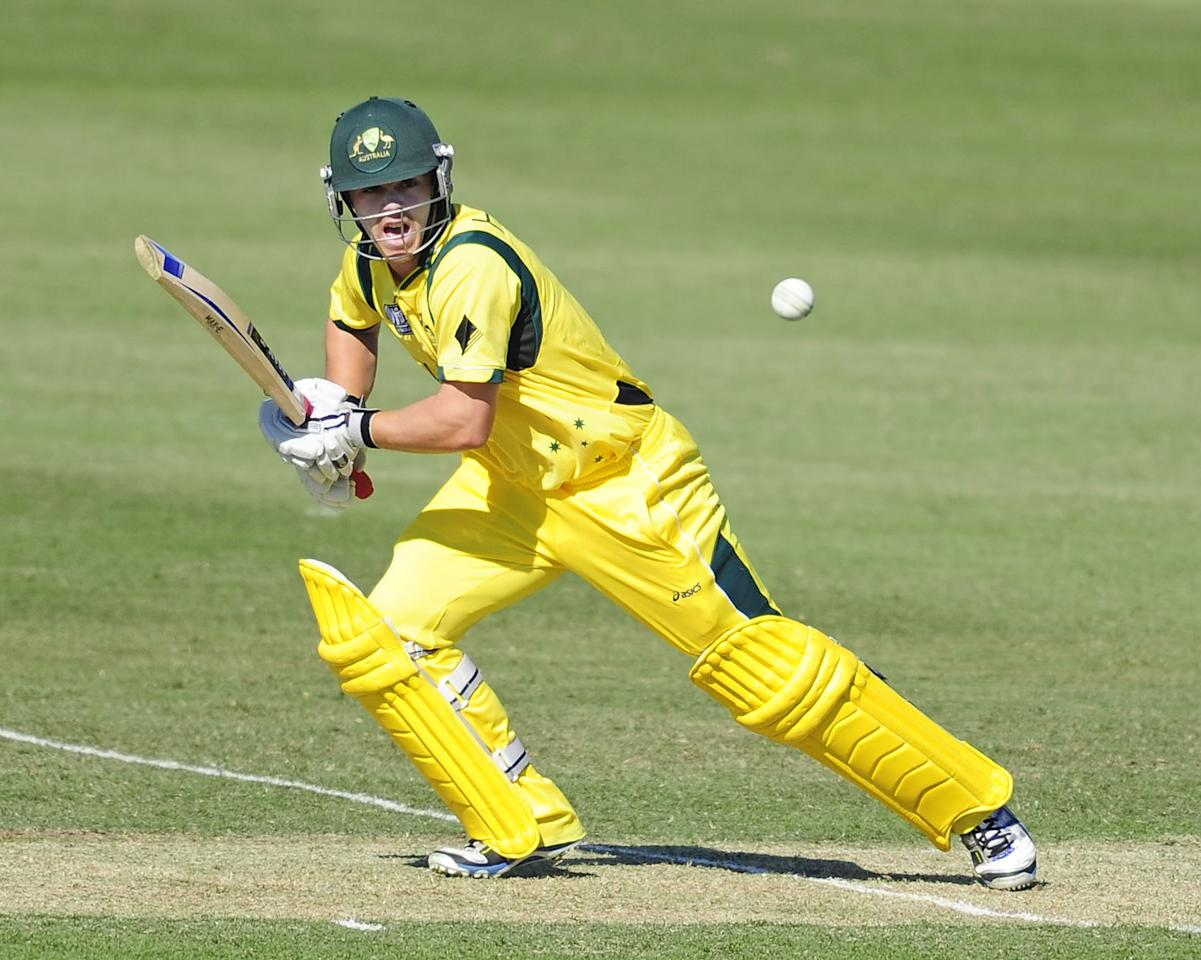 TOWNSVILLE, AUSTRALIA - AUGUST 11:  Travis Head of Australia bats during the ICC U19 Cricket World Cup 2012 match between Australia and England at Tony Ireland Stadium on August 11, 2012 in Townsville, Australia.  (Photo by Ian Hitchcock-ICC/Getty Images)