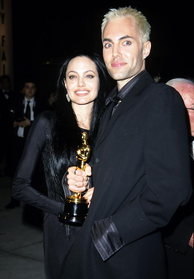 "Speculation about Angelina Jolie's relationship with older brother James Haven filled the gossip pages after winning the Academy Award for Best Supporting Actress for ""Girl, Interrupted"" in 2000. During her acceptance speech she stated that she was ""so in love with [her] brother right now,"" then proceeded to kiss him on the lips after the ceremony."